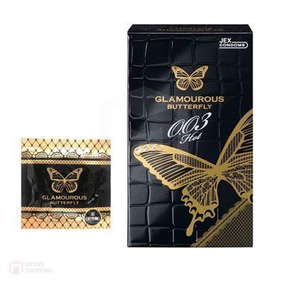 ถุงยางญี่ปุ่น Jex Glamourous Butterfly 0.03 Hot Condom