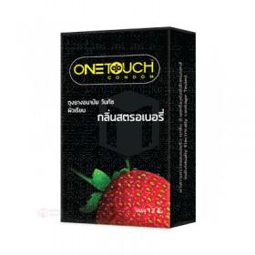 ถุงยางอนามัย One Touch Strawberry (ผิวเรียบกลิ่นสตอเบอรี่ 12 ชิ้น)