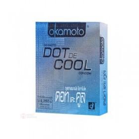 ถุงยางอนามัย Okamoto Dot De Cool (ปุ่มเยอะ เจลเย็น)
