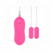 10 Function Dual Bullet Vibrator Pink(อุปกรณ์สั่นลูกสั่น 2 ลูก)