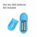 10 Function Dual Bullet Vibrator Blue (อุปกรณ์สั่นลูกสั่น 2 ลูก)
