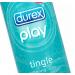 Durex Play Tingle 100ml. เจลหล่อลื่น กลิ่นเสปียร์มินต์ ที่ให้สูตรเย็น ขณะใช้ ช่วยเพิ่มความสุขให้ทุกๆโอกาสเป็นโอกาสพิเศษ โดยเป็นเนื้อเจลใส